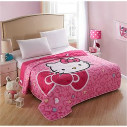 $enCountryForm.capitalKeyWord Canada - Music Party Hello Kitty Summer Quilt Air-condition Duvets Washable Blanket Thin Comforter Quilts for Girls Kids Home Textile Gift