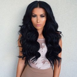 Body Wave Long Hair Canada - Brazilian Full Lace Wig Human Hair Body Wave Natural Soft Glueless Lace Front Long Human Hair Wigs For Black Women