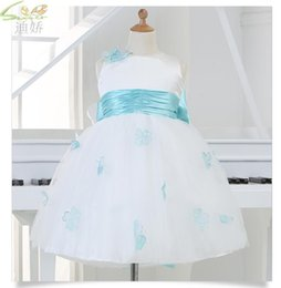 $enCountryForm.capitalKeyWord Canada - Hot Sale White Princess Girl Party Birthday Dresses Tutu Wedding Dress for Christmas With Handmade Flowers And Big Bow 12M-12Y