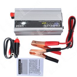 China Wholesale- Free shipping!! 1200W 1200 WATT Modified Sine Wave Car Boat Convertisseur 12V DC In 220V AC Out Power Inverter cheap power outs suppliers
