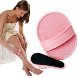 Herramienta de eliminación del exfoliante de la piel lisa Adhensive caliente útil sin dolor brazo de la pierna lisa almohadillas de pelo