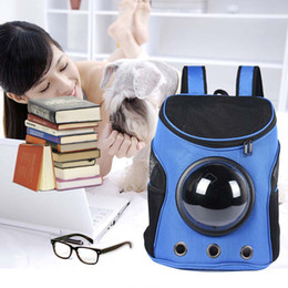 space backpacks 2019 - New Space Capsule Shaped Pet Carrier Breathable backpack PC cat outside Travel portable cat bags free shipping cheap spa
