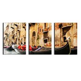 venice wall art 2018 - 3 Panel Wall Art Painting on Canvas Oil Painting Famous Painting  sc 1 st  DHgate.com & Discount Venice Wall Art | Venice Canvas Wall Art 2018 on Sale at ...
