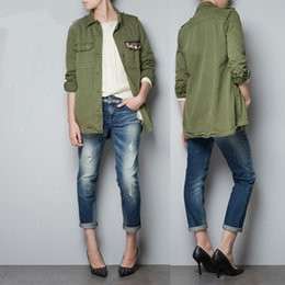 Discount Military Style Jacket Women Green | 2017 Military Style ...