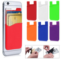 $enCountryForm.capitalKeyWord Australia - Silicone Wallet Credit Card Cash Pocket Sticker Adhesive Holder Pouch Mobile Phone 3M Gadget iphone Samsung Universal Style Free Shipping
