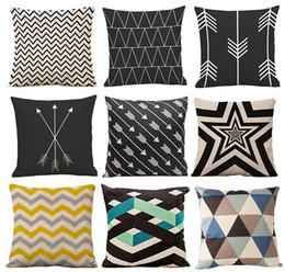 Ingrosso 126 Cuscini a forma di cuscino Cuscini decorativi a motivi geometrici in lino