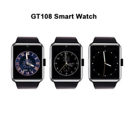 Bluetooth Smart Watch Sim Australia - Smartwatch GT08 Bluetooth Smart Watch with Camera SIM Card TF SD Card Slot Call Sync Notifier and Smart Health Watch for iphone Android