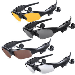 HeadpHones for glasses online shopping - Smart Glasses Wireless Bluetooth SunGlasses Google Glass Sun glasses Headset Headphones Handfree For IOS Anroid phones With Retail Package