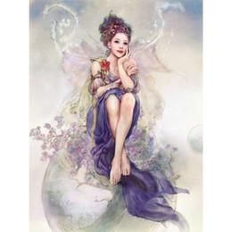 $enCountryForm.capitalKeyWord NZ - Diamond mazayka 3D DIY Diamond Painting Angel Girl Wings Cross Stitch Fantasy Fairy Products for crafts 30x40cm HWB-502