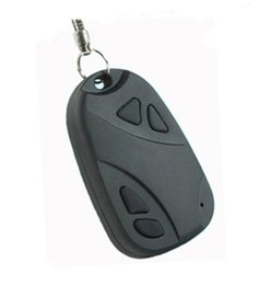 Wholesale 2pcs HD P Mini Car Key Chain DVR Camera HD Video Recorder Mini KeyChain Portable Candid Camera Surveillance Security Camcorde