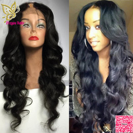 Middle part unprocessed huMan wigs online shopping - Human Hair U Part Wigs Loose Wave Virgin Indian Unprocessed Remy Human Hair Upart Wig Wavy Middle Part For Black Women