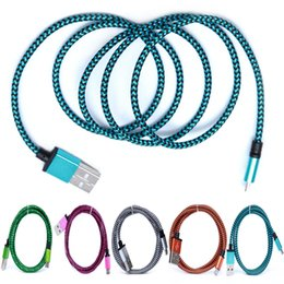 $enCountryForm.capitalKeyWord Canada - Hot Sale 1M 3FT Fabric Nylon Braid Micro USB Charger Cord Head Metal Cell Phone Chargering Cable BraidedHigh Quality Braided Fabic Nylon Wov