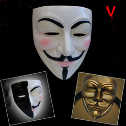 resin movie v party masks for vendetta anonymous halloween masks cosplay face guy fawkes bauta masks party masquerade scary costume props discount halloween - Discount Halloween Props