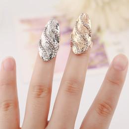 $enCountryForm.capitalKeyWord Canada - Fashion Rhinestone Cute fingerprint clover Crystal Fingernail rings Design Punk Rings for Girl European and American Style Nail Art Rings