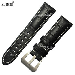 2018 panerai watch band strap 22mm ZLIMSN Watchbands 24mm for PANERAI ITALY Leather Watch Band Strap 22mm Bracelet Belt HOT PROMOTIONS3 Buckle Leather stra