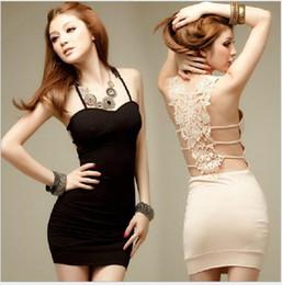 $enCountryForm.capitalKeyWord Canada - Lace sleeveless halter skirt New Fahion black condole belt skirt dinner suit african dresses evening wear evening dresses for women 2016