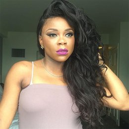 wig styles lace fronts 2019 - New style unprocessed virgin hair body wave wigs human full lace glueless lace front human hair wigs with baby hair chea