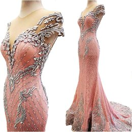 Free Quinceanera Dresses Canada - High quality pink mermaid Evening Dresses 2017 vestidos de noiva Formal Prom Gowns Free Shipping evening dress