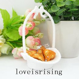 Gold Boxes For Candy NZ - 48pcs lot White Gold Silver Color Little Flower Basket Shape Candy Boxes For Baby Shower Favors Wedding Party decoration