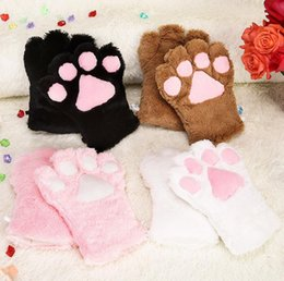 484c9d32f Wholesale - Sexy The maid cat mother cat claw gloves Cosplay accessories  Anime Costume Plush Gloves Paw Party gloves Supplies