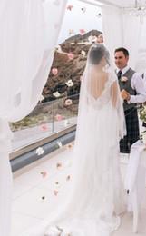 $enCountryForm.capitalKeyWord NZ - New Top Qualityr Cheap Best Sale Chapel White Ivory Lace Applique veil Mantilla Bridal Head Pieces For Wedding Dresses