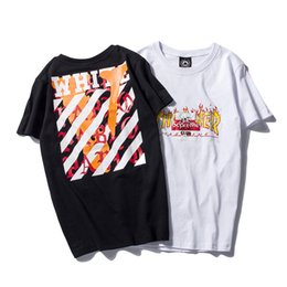 Barato Estilo Ocidental Da Camisa Do Kanye T-Off White Anti Social Social Club Pablo Brand Print Men T-shirt Kanye West Style V Top Tees Streewear Skate Homem T Shirt AMD011