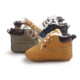 $enCountryForm.capitalKeyWord NZ - Baby Casual Shoes Winter Infant Wear First Shoes PU Leather Soft Sole Moccasins Lace Up Shoe Toddler Shoeses Grils First Walker