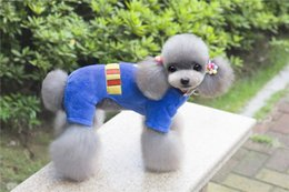 China A42 dog warm coat for 4 legs --Super man design pet Coral fleece clothing pet dog coat suppliers