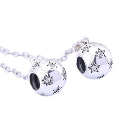 Chinese  925 Sterling Silver Safety Chain Charm Star Threaded Bead For Pandora European Bracelets Designer Jewelry manufacturers