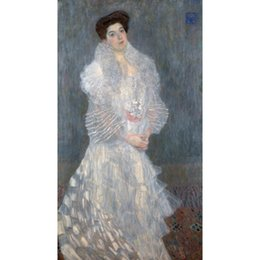$enCountryForm.capitalKeyWord NZ - Famous Gustav Klimt Portrait Of Hermine Gallia Hand painted Oil Paintings canvas reproduction Home decor