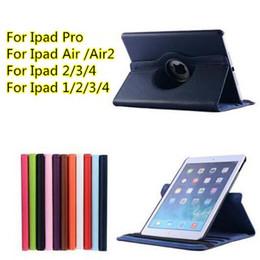 "Ipad2 Cases Canada - For Ipad Pro 12.9"" Ipad Air 2 Air  Ipad2 3 4  ipad mini1 2 3 4 360 Degregree Rotary cover case Stand PU Leather Cover Cases 11 colors"