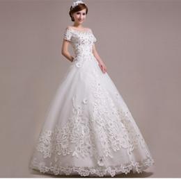 Crystals Embroider Wedding Dress Canada - The bride wedding dress code neat white diamonds Wedding Dresses Luxury Crystal Wedding Dress Crystals Sweet princess