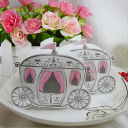 $enCountryForm.capitalKeyWord Canada - 100pcs lot Enchanted Carriage Fairytale Themed Favor Box Wedding Boxes Cinderella Pumpkin Carriage Candy Boxes HO019