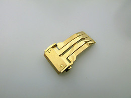 22mm stainless bracelet Canada - 20mm 22mm 24mm New Stainless Steel Gold Color Watch Buckle Deployment Clasp For H-U-B