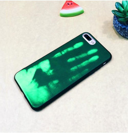 $enCountryForm.capitalKeyWord NZ - Thermosensitive Color Change Temperature Sensing Heat Thermal Sensor Magical PU Fingerprint Shell Back Cover Case For iphone X 8 7 plus 6 6s