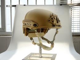 Helmet fast online shopping - Tactical Bulletproof FAST Airsoft paintball Air Frame Helmet AF Tactical Helmet Tan Enhanced version
