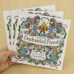 1PC School Office Book Enchanted Forest 24 Pages Hand Painted Graffiti Coloring Books Of The Relieve Stress Painting