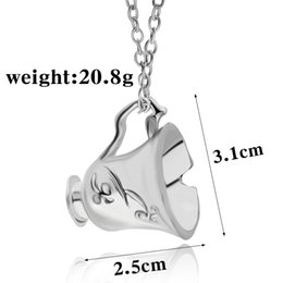 Clip Charms Free Shipping NZ - Free Shipping Once Upon A Time Rumbelle Bella Clip Tea Cup Pendant Charm Necklace FASHION JEWELRY movie necklace 160935