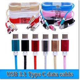 Latest style nylon USB 3.1 Type C usb data cable 1.5m 3inch with 10 colors for MacBook Google Chromebook Pixel   HP Pavilion x2 from macbook style suppliers