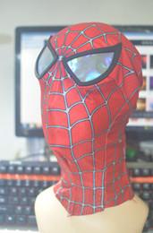 Superhero coStumeS for men online shopping - HD07 Avengers Black Red Spiderman SuperHero Head Head for Women Men Kids Classic Halloween Spiderman Costumes with PVC Eye Mask