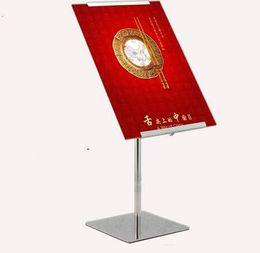 Menu Holder Stand UK - Adjustable Poster Banner Display Stand Rack Poster Holder For A4 A3 Kt Advertising Board Metal Sign Holder Menu Stand