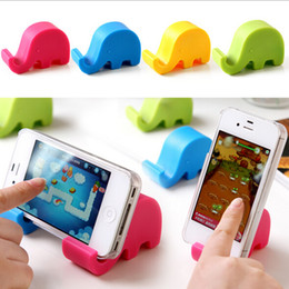 Wholesale-Cute elephant nose phone holder tablet Mobile Phone Accessories stands cell phones holder soporte movil telefonos moviles