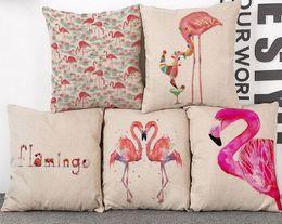 Flamingo Bed Car Throw cushion cover sofa chair pillow case zippered 18*18 throw pillowcase for home decor, sofa, car, office decor