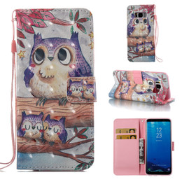 butterfly wind chimes 2019 - 3D Flowers Wind chimes Butterfly tower owl Wallet Flip Leather Case for samsung S8 plus S7 edge S6 edge S5 J310 J510 che