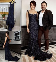 Chinese  Robe De Soiree 2019 New Arrival Black Sequin Luxury Mermaid Long Evening Gown sweetheart backless shiny trumpet occasion party formal gown manufacturers