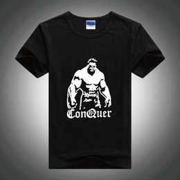 Algodón Ropa De Deporte Baratos-Gym Men Stringer camiseta Top Men Gym Bodybuilding and Fitness Camisetas de manga larga GYM Tank Shirts Ropa deportiva Cotton manga corta Tee