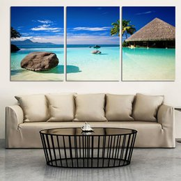 $enCountryForm.capitalKeyWord Canada - Wall Art Photography Painting On Canvas blue sky and white clouds sea Paintings Pictures Decor painting large living room(No Frame)