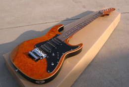New Brand Electric Guitar suh with mahogany wood brown color,with black pickguard! on Sale