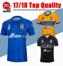 6051e45bd ... 2017 NEW Tigres UANL soccer jerseys thai quality 17 18 Mexico club  Maillot De Foot Home ...