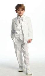 $enCountryForm.capitalKeyWord Canada - Hot Sale 2016 Custom Suit Boys Ivory 4 piece Suit Boy Wedding Suits Boy Tuxedo (Jacket+Pants+Vest+Bow) Boys Dress Suit wholesale new design